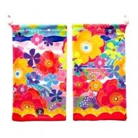 Japan BIG KYUKYU wipe pouch | flowers and