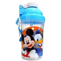 (BabyPark,RIHO,DISNEY)BabyPark Disney Straw Transparent Cold Water Bottle 300ml-Mickey Donald Duck