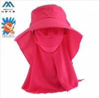 (山野行者)[山野行者]MW-0096 / Pink / anti-UV comprehensive 360 degree outdoor sun protection shoulder shade dual-use cap - hiking / leisure / rock climbing /