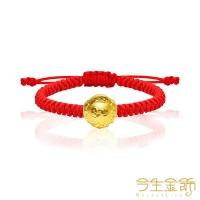 (今生金飾)This life gold jewelry small gold beads pure gold Miyue bracelet