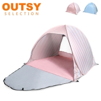 (OUTSY selection)Increase the seconds and turn on the automatic and free-to-build anti-UV picnic beach tent water blue dot