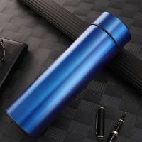 智能 LED 溫度顯示保溫瓶 500ml - 藍色