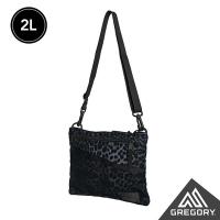 (gregory)Gregory 2L SACOCHE Crossbody Bag M Black Leopard Print