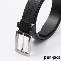(per-pcs)[per-pcs] ZIBIYA selects high quality leather check belt _coffee (F8210K)