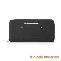 (Kinloch Anderson)[金安德森]METEOR flexible cowhide zipper long clip - black (KA176205BKF)
