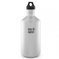 (Klean Kanteen)US Klean Kanteen stainless steel bottles 1893ml- Currie raw steel color