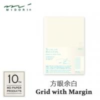 "(MIDORI)MIDORI ""MD Notebook - 10th 10th Anniversary Limited Edition"" A5 size / Square Grid with Margin"