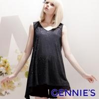 (Gennies)Gennies Chini Starry Cotton Vest Top - Black (G3314)