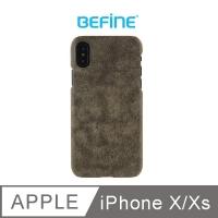 (BEFINE)BEFINE iPhone X Dedicated GEMINI Leather Case - Dark Green