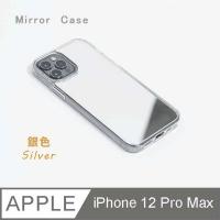 【iPhone 12 Pro Max 6.7吋】鏡面系列防摔手機保護殼 - 銀色