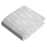 (Kushies)Canada kushies cotton lint bed crib-70x140cm fog gray arrow feather pattern