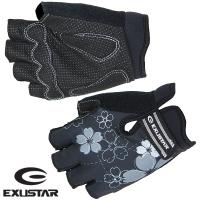 (EXUSTAR)[EXUSTAR] GEL shock absorption half refers to female slip gloves (black / XL)