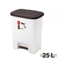《ASVEL》防臭加工腳踏垃圾桶-25L