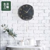 Nordic simple black gold pendulum clock-life workshop