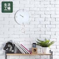 Nordic simple platinum pendulum clock-life workshop