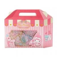 Small auditorium Melody portable paper box shape jelly sticker transparent sticker crystal sticker (pink white)