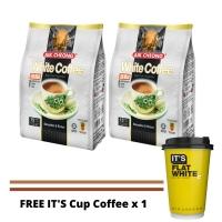 Bundle of 2 AIK CHEONG White Coffee (Original / Hazelnut / Less Sugar / No Sugar) Free IT'S CUP Flat White x 1