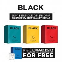 Aik Cheong Black Series 5's Bundle of 3 (Nicaragua, Ethiopia, Columbia) FREE 1 (Guatemala) + Ceramic Mug