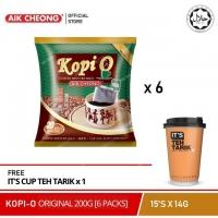 AIK CHEONG Kopi O Original (6 Packs) [Free IT'S Cup Teh Tarik 72g]