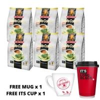 [BUNDLE OF 6] AIK CHEONG White Coffee Free Mug and IT'S Cup Coffee