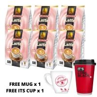 [BUNDLE OF 6] AIK CHEONG Cafe Art Free Mug and IT'S Cup Coffee