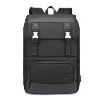 (BAO)[Pin Le. BAO] AH Arctic Hunter Business Backpack USB Computer Backpack (Black)