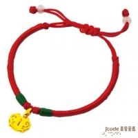 (Jcode)J'code true love password - pure gold peace lock Chinese knot bracelet