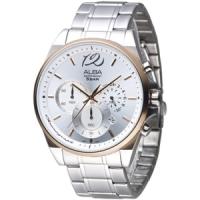 (ALBA)ALBA speed flick three eye timing yaimei male watch (AT3A50X1) - silver white