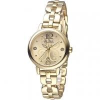 (ALBA)ALBA Flora Goddess Crystal Diamond Fashion Women Watch - Full IP Gold (AH7L56X1)