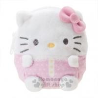 "Hello Kitty mini velvet coin purse ""Pink White"" storage bag. Headphone bag"