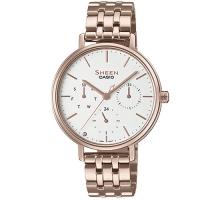 (casio)[CASIO] SHEEN pure simplicity multiple three-eye sapphire mirror rose gold watch (SHE-4541CG-7A) white face X rose gold