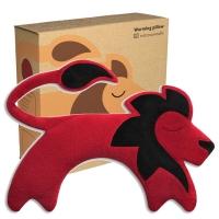 (leschi)German Leschi Soothing Shoulder and Neck Hot/Cold Pack-Lion Shape (Fire Red)