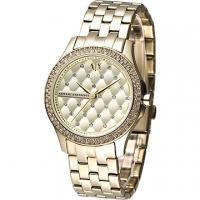 (EMPORIO ARMANI)A│X Armani Exchange ornate style crystal diamond ladies watch -IP gold (AX5216)