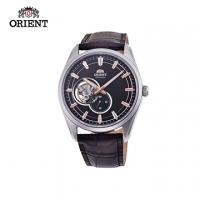 (ORIENT)ORIENT Oriental Watch SEMI-SKELETON Series Sapphire Hollow Mechanical Watch Belt Brown -40.8mm RA-AR0005Y