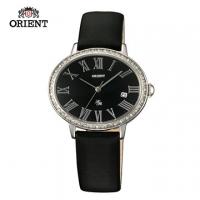 (ORIENT)ORIENT Orient Watch LADY ROSE series of oval quartz watch black belt section FUNEK006B - 36mm * 30mm
