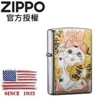 (zippo)ZIPPO Japanese traditional design MANEKINEKO Lucky Lucky Cat Windproof Lighter