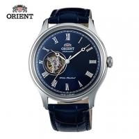 (ORIENT)ORIENT oriental table SEMI-SKELETON series semi-hollow mechanical leather strap models FAG00004D blue - 43mm