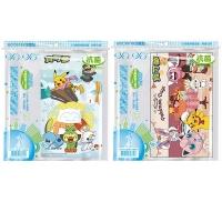 (哈哈書套)(2 packs 1 set) Haha Eco-friendly cartoon book cover widened type (applicable to new class steel) Pok?mon A