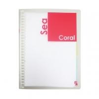 Double A B5 26 hole loose-leaf folder - Color Series / coral (DAFF14001)