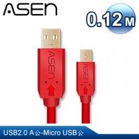 (ASEN)ASEN USB AVANZATO industrial grade wire X-LIMIT version (USB 2.0 A Male to Micro USB) - 0.12M