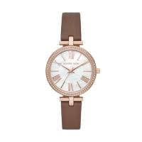 (michael kors)MICHAEL KORS elegant bright diamond leather watch / MK2832