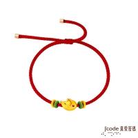 (J'code)J'code True Love Code Mouse Endless Love Hard Gold Woven Bracelet