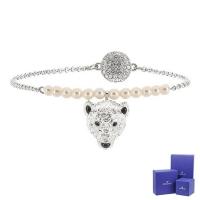 (swarovski)SWAROVSKI Swarovski Polar Bestiary bright crystal polar bear shape silver magnetic bracelet bracelet