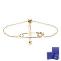 (swarovski)SWAROVSKI Swarovski So Cool crystal pin shape gold adjustable bracelet bracelet