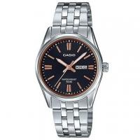 (casio)[CASIO] will be white-collar lady week design stainless steel watch - black (LTP-1335D-1A2)