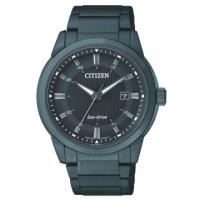 (CITIZEN)CITIZEN GENTS Eco-Drive simple classic fashion all black steel male watch / black / BM7145-51E