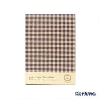(nakabayashi)Japan Nakabayashi Self-adhesive Photobook Linen Series Japanese Checkered Photobook (Purple)
