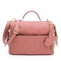 (playboy)PLAYBOY- Crossbody Bag BUNNY QUEEN Series-Rose Pink