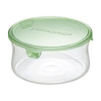 iwaki heat-resistant glass microwave box-round (KT7402-G)