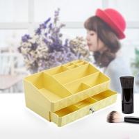 [TAITRA] Korean Style - Cosmetics Storage Box with Drawers - Jewelry Storage Box - Yellow